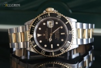 ROLEX SUBMARINER DATE S/18K GOLD ref.16613  --SOLD--