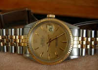 ROLEX DATEJUST PERPETUAL S/18K GOLD -- SOLD --