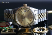 ROLEX DATEJUST PERPETUAL S/18K GOLD --SOLD--